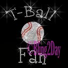 T-Ball Fan - C Rhinestone Iron on Transfer Hot Fix Bling Sports - DIY