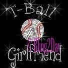 T-Ball Girlfriend - C Rhinestone Iron on Transfer Hot Fix Bling Sports - DIY