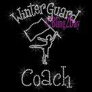 Winter Guard Coach - C Rhinestone Iron on Transfer Hot Fix Bling Sports - DIY