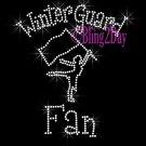Winter Guard Fan - C Rhinestone Iron on Transfer Hot Fix Bling Sports - DIY