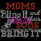 TRACK - Moms Bling It and their SONS Bring It - Iron on Rhinestone Transfer Sports Mom - DIY