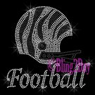 Zebra Football Helmet - Iron on Rhinestone Transfer Sports Mom - DIY