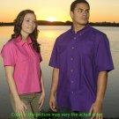 Mens Fishing Shirt Short Sleeve (Burnt Orange)(size -Medium)