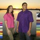 Mens Fishing Shirt Short Sleeve (Light Blue)(size -Medium)
