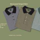 Horizontal striped golf / polo (Medium)