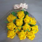 Origami Paper Roses Bouquet  Yellow Gift Crafts
