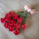 Origami Paper Rose Bud Bouquet  Red Gift Crafts