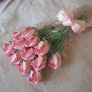 Origami Paper Rose Bud Bouquet  Pink Gift Crafts