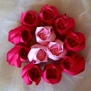 24 Origami Kawasaki RoseBuds Handmade Flower Craft Gift