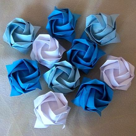 24 Origami Kawasaki Rose Handmade Flower Craft Gift