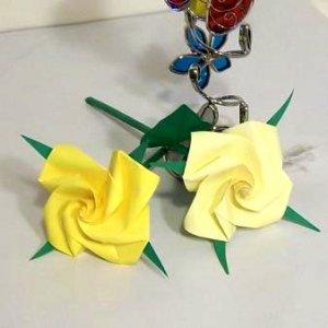 Handmade Origami Rose  Paper Folded flower  Craft Gift