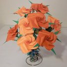 8 Handmade Origami Rose Paper Folded Flower Craft Gift Short Stems