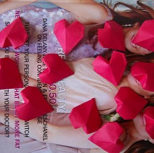 12 Origami 3D Heart Paper Folded Craft Gift
