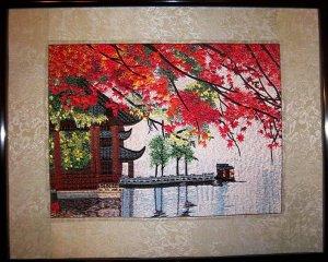 Handmade traditional Fancywork Wall Art Embroidery Needlework Home Decor