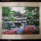 Handmade Embroidery Needlework Traditional Fancywork Wall Art  Home Decor Spring Lake