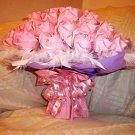 40 Origami Paper Rose Bouquet Handmade Anniversary Birthday Valentine Gift Pink