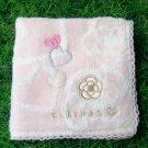 Clathas Pink Rose & Heart Handkerchief