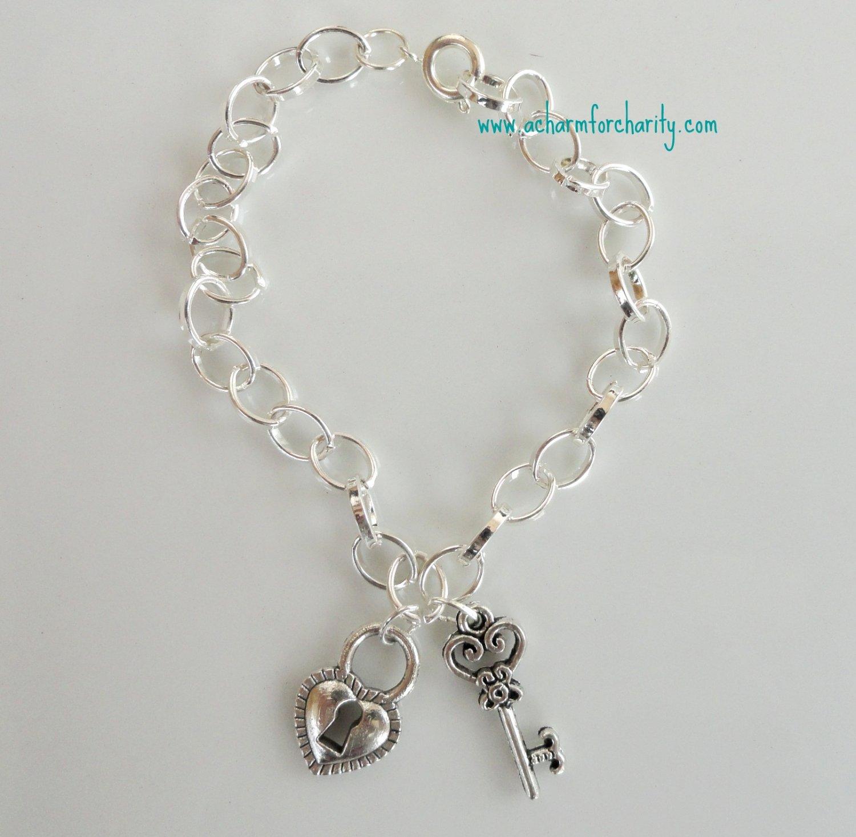 Heart Lock/Key Bracelet - 101