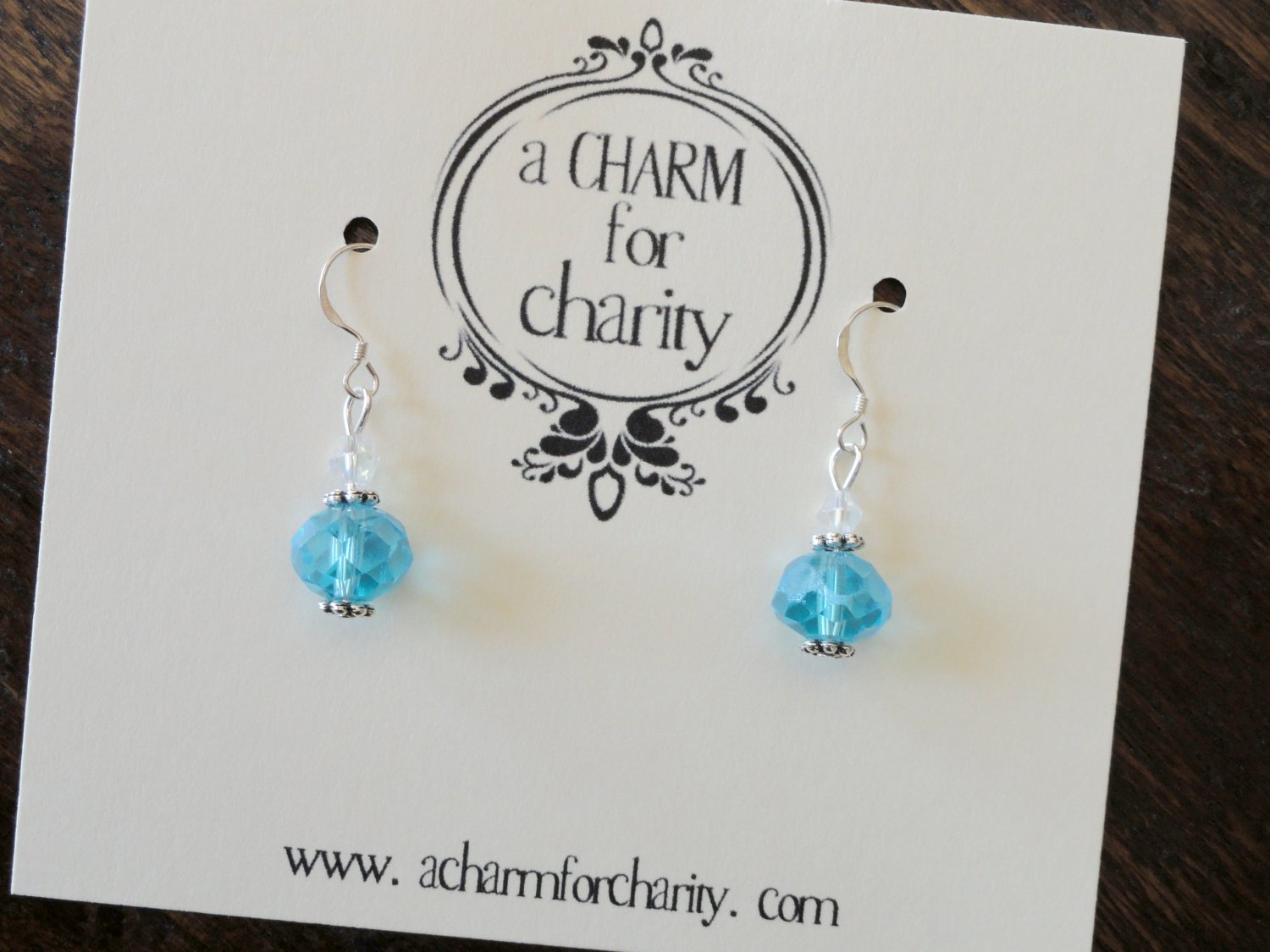 Crystal and Sterling Silver Drop Earrings - 101