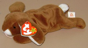 1995 TY BEANIE BABY - Ears - PVC Pellets - Original Rabbit Bunny Tags NEW! 4018