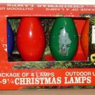 C-9 1/4 REPLACEMENT BULB LOT Blue Red Green Orange Vintage Christmas Light Large