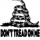 Don't tread on me! WHITE Tee Adult SMALL