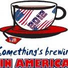 Tea Parties something's brewing Tee! WHITE Tee Adult MEDIUM