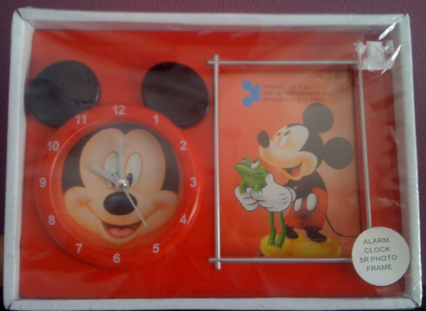 Mickey Mouse Clock + Photo Frame - 05