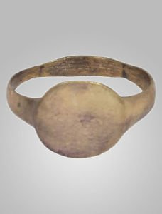 1/2 Price Sale-Ancient Roman Mens Pinky Ring C.100-400 A.D. Size 8 3/4 (18.2mm)(
