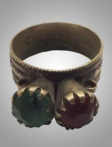 Antique Womans Gypsy Romany Ring Size 9 1/2   19.1mm(87cg)