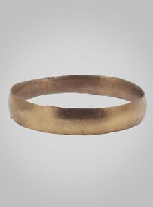 Ancient Viking Wedding Band Jewelry C.866-1067A.D. Size 11  1/4 (21mm)(Brr461)