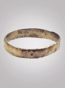 Ancient Viking Woman's  Wedding Band Jewelry C.866-1067A.D. Size 7 1/4  (17.7mm)