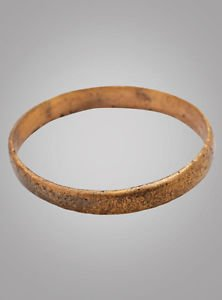 Authentic Ancient Viking Wedding Band Jewelry C.866-1067A.D. Size 10 1/4  (20.1m