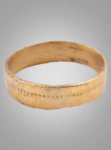 Ancient Viking Womans Wedding Band, Jewelry C.866-1067A.D. Size 5 1/2   (15.8mm)