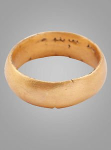 Ancient Viking Womans Wedding Band, Jewelry C.866-1067A.D. Size 5 3/4  (15.7mm)(