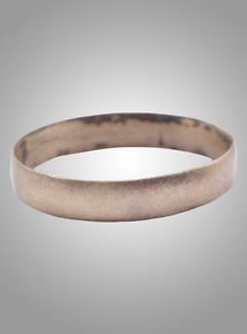 Authentic Ancient Viking Wedding Band Jewelry C.866-1067A.D. Size 6 3/4  (16.5mm