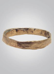Ancient Viking Wedding Band Jewelry C.866-1067A.D. Size 9  1/4 (20.4mm)(Brr385)