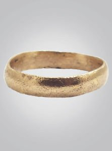 Ancient Viking Wedding Band Size 12 1/2  (21.6mm) C.866-1067A.D. (Brr384)