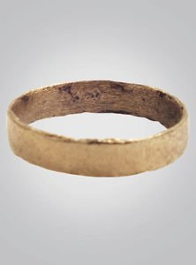 Ancient Viking Wedding Band Jewelry C.866-1067A.D. Size 9 1/2  (18.9mm)(Brr373)