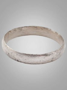French Country Wedding Band, Viking Age Ring, C.866-1067A.D. Size 9 3/4  (19.4mm