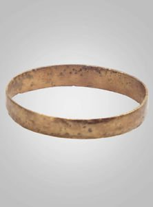 Authentic Ancient Viking Wedding Band Jewelry C.866-1067A.D. Size 9 3/4 (20mm)(B