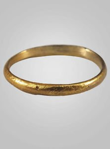 Authentic Ancient Viking Wedding Band Jewelry C.866-1067A.D. Size 10 1/4   (20mm