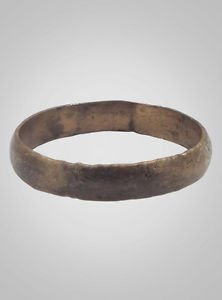 Authentic Ancient Viking Wedding Band Jewelry C.866-1067A.D. Size 9 1/2  (19.8mm