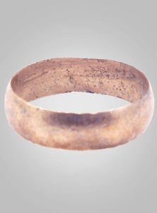 Ancient Viking Wedding Band Jewelry C.866-1067A.D. Size 10 1/4  (20.5mm)(Brr424)