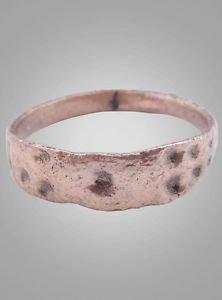 Antique Viking  Mans Wedding Band  C.866-1067A.D. Size 10  (19.4mm)(Brr715)