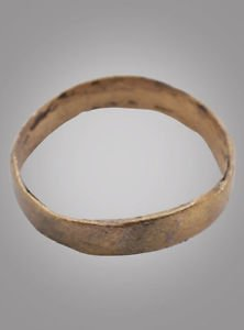 Ancient Viking Womans Wedding Band, Jewelry C.866-1067A.D. Size 6  (15.7mm)(Brr8