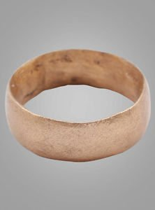 Authentic Ancient Viking Wedding Band Jewelry C.866-1067A.D. Size 8 1/2  (18.3mm
