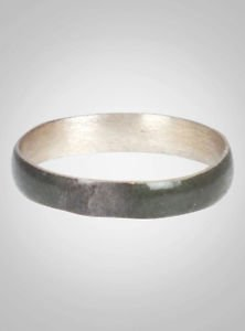 Ancient Viking Natural Bronze Wedding Band Jewelry C.866-1067A.D. Size 10 3/4