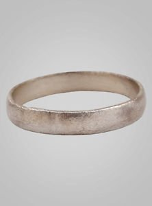 Authentic Ancient Viking Ring Silver over Bronze C.866-1067A.D. Size 10 1/2  (20