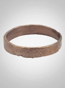 Ancient Viking Wedding Band Jewelry C.866-1067A.D. Size 7 3/4  (17.9mm)(Brr504)